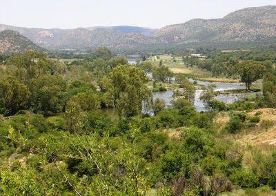 View over Vredefort hills & Vaal River